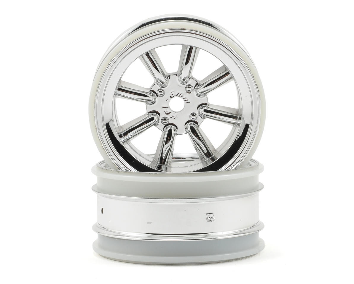 HPI Racing MX60 8 Spoke Wheel (2) (6mm Offset) (Chrome)