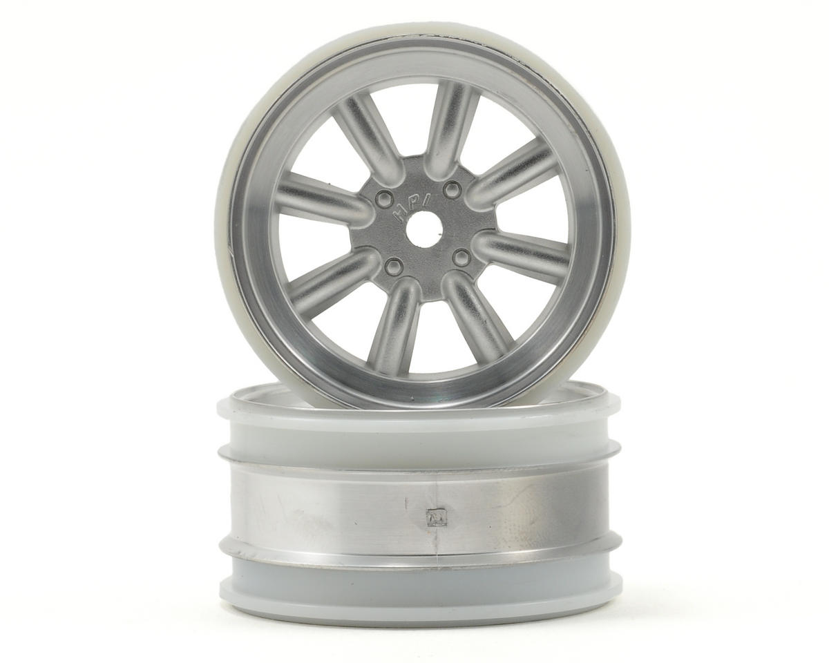 HPI Racing MX60 8 Spoke Wheel (2) (6mm Offset) (Matte Chrome)