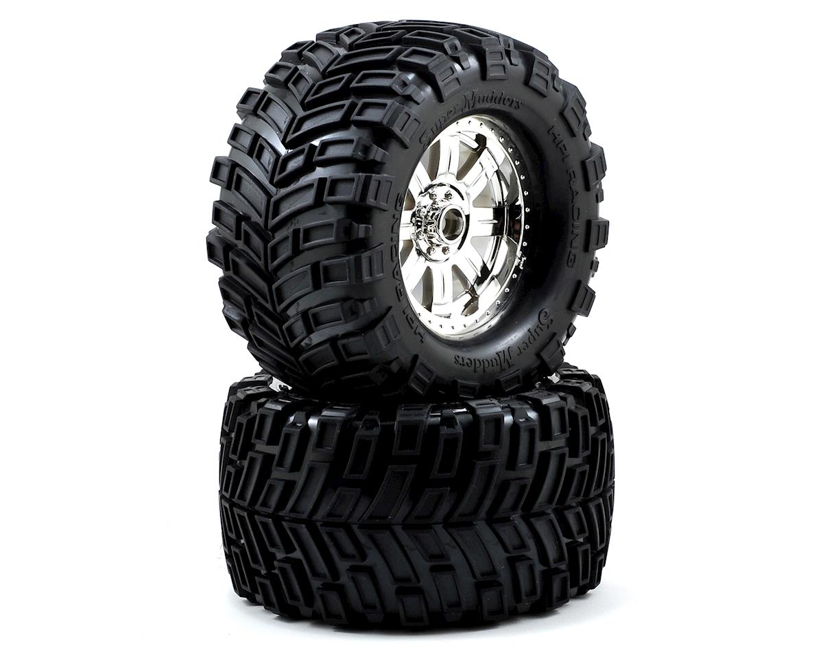 HPI Savage XL Octane Pre-Mounted Super Mudders Tire w/Ringz Wheel (2) (Chrome)