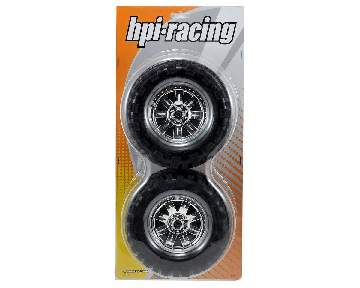 HPI Pre-Mounted Super Mudders Tire w/Ringz Wheel (2) (Chrome)