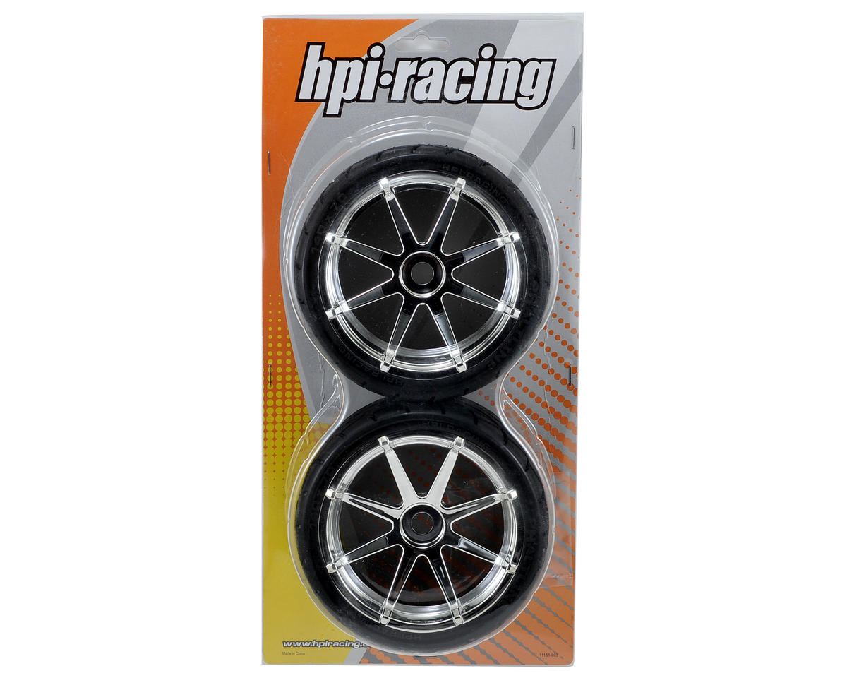 HPI Pre-Mounted Phaltline Tire w/Blast Wheel (2) (Chrome)