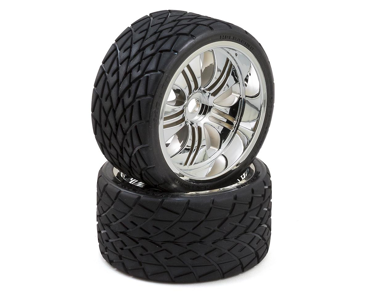 HPI Mntd Phaltline Tire/Tremor Chrome Wheel