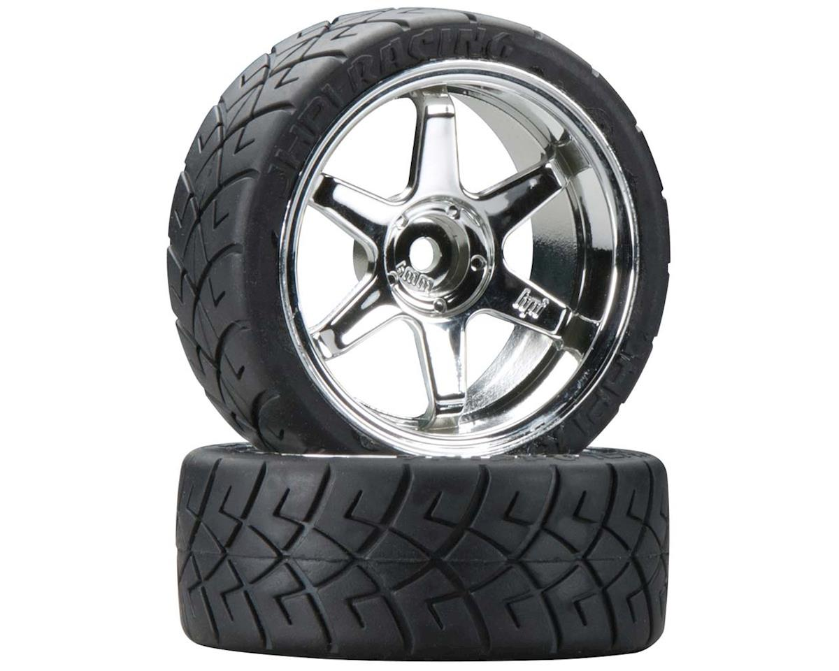 4735 Mntd X-Pattern Tire D Cmpnd TE37 6mm Offset by HPI