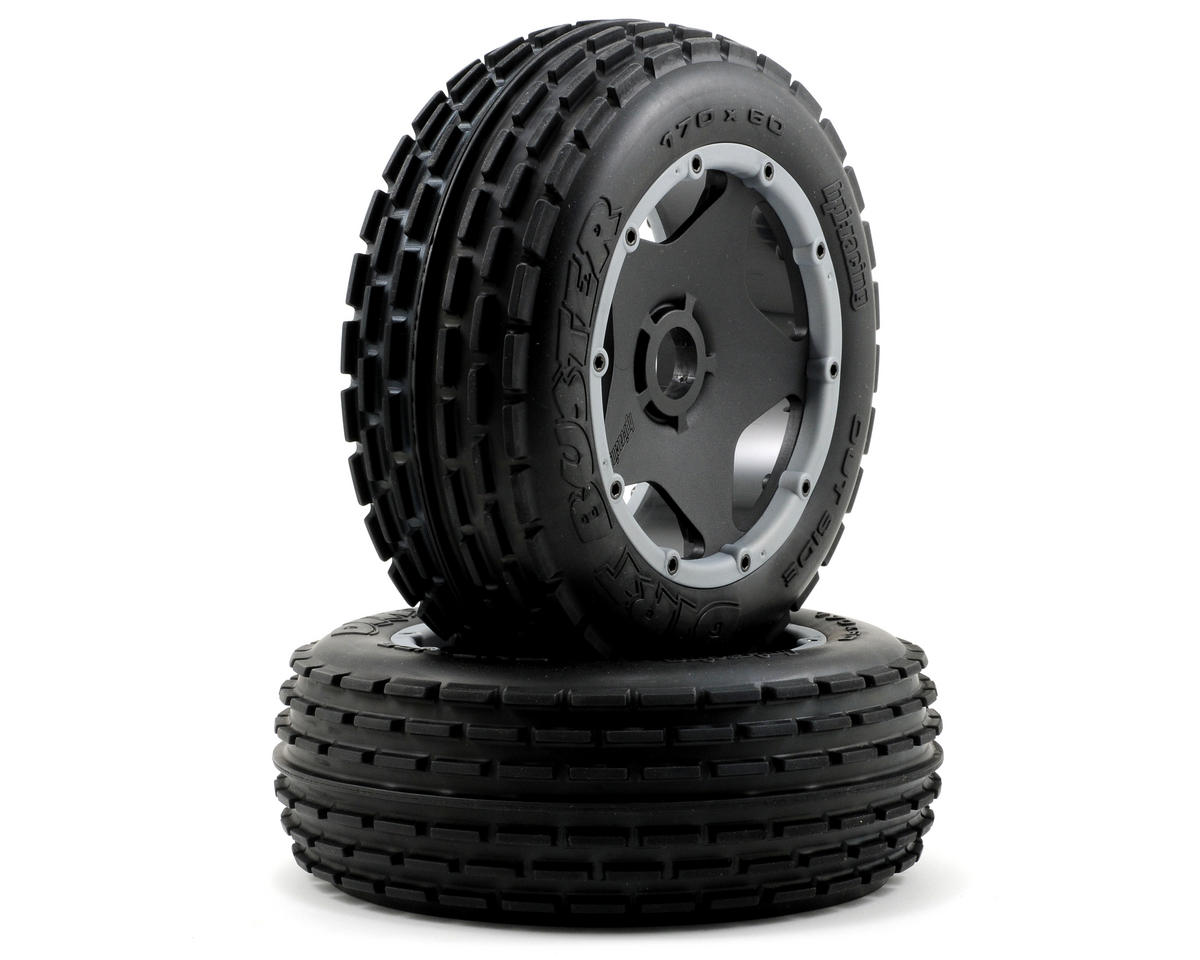 HPI Pre-Mounted Dirt Buster Rib Front Tire w/Black Wheel (2)