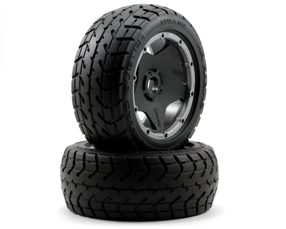 HPI Racing Baja 5B Pre-Mounted Tarmac Buster Rib Front Tire w/Black Wheel (2)