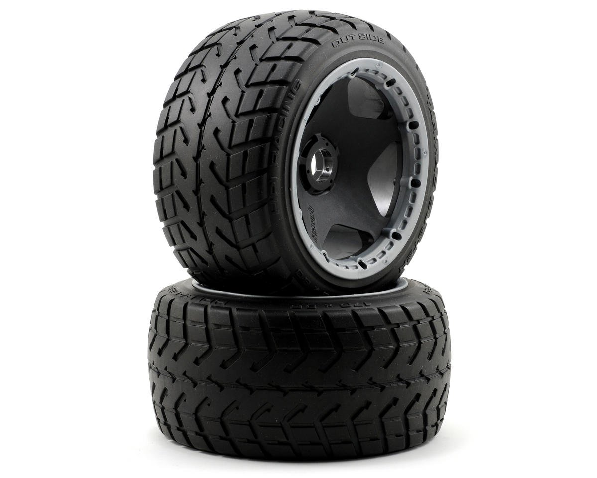 HPI Racing Baja 5B Pre-Mounted Tarmac Buster Rear Tire w/Black Wheel (2)
