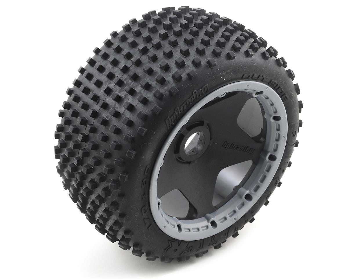 HPI Racing Pre-Mounted Dirt Buster Block Rear Tire w/Black Wheel (2)