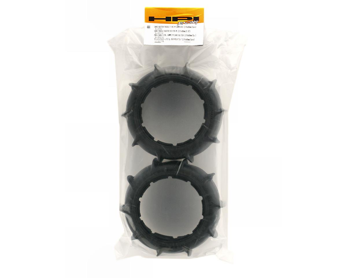 Sand Buster Paddle Tire Rear (2) (M) by HPI Racing