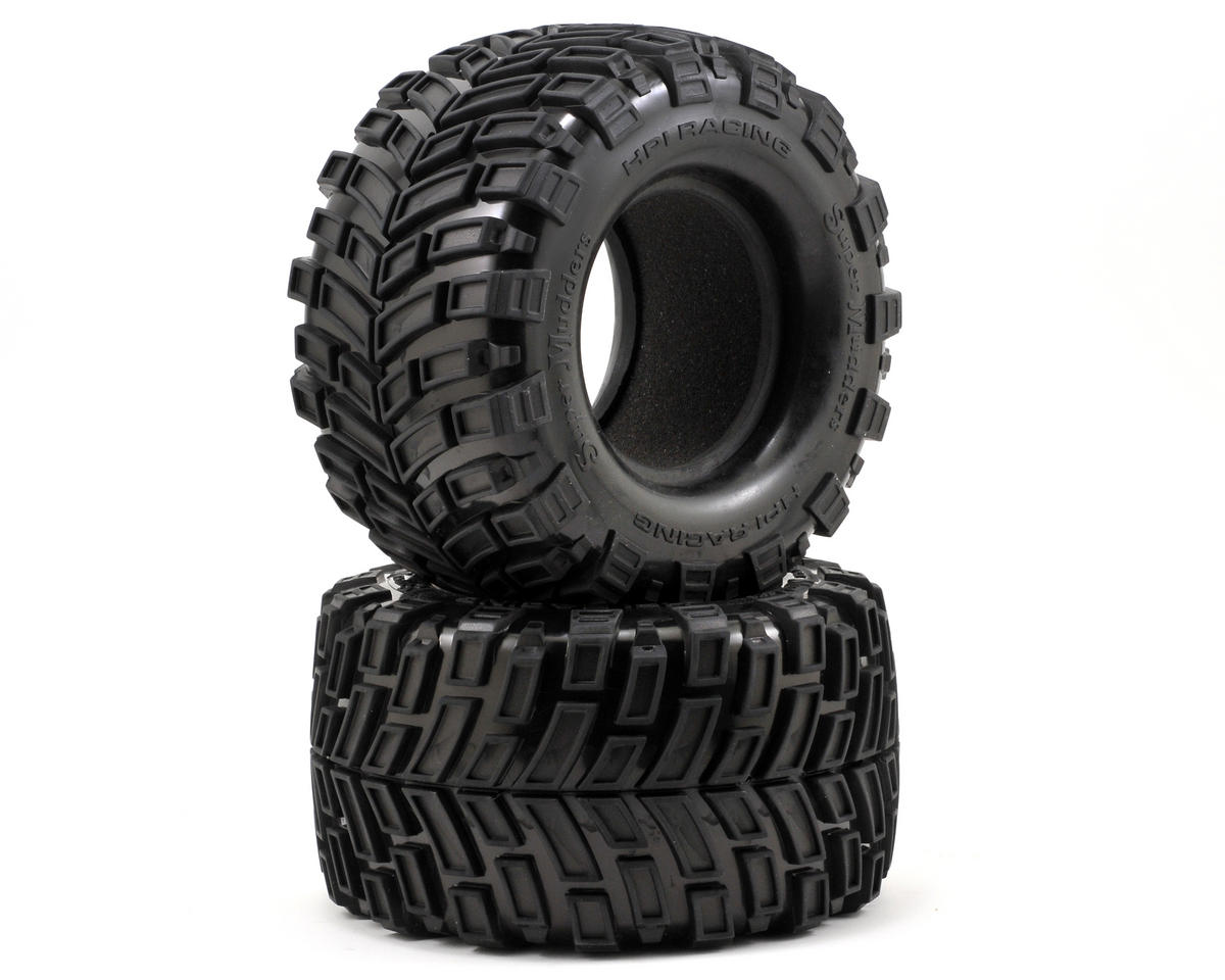 Super Mudders Monster Truck Tire (165x88mm) (2) by HPI Racing Savage Flux HP