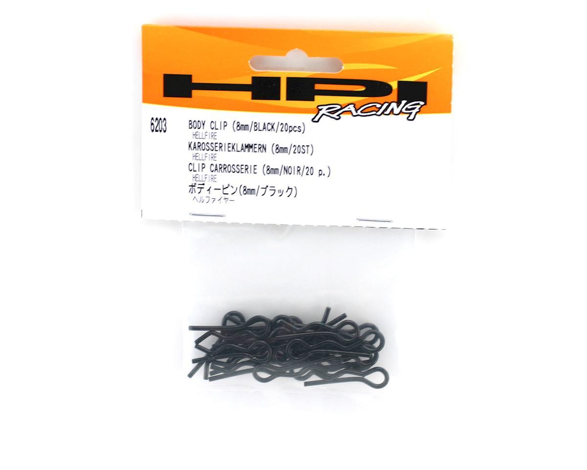 HPI Racing Large Body Clip (Black) (20)