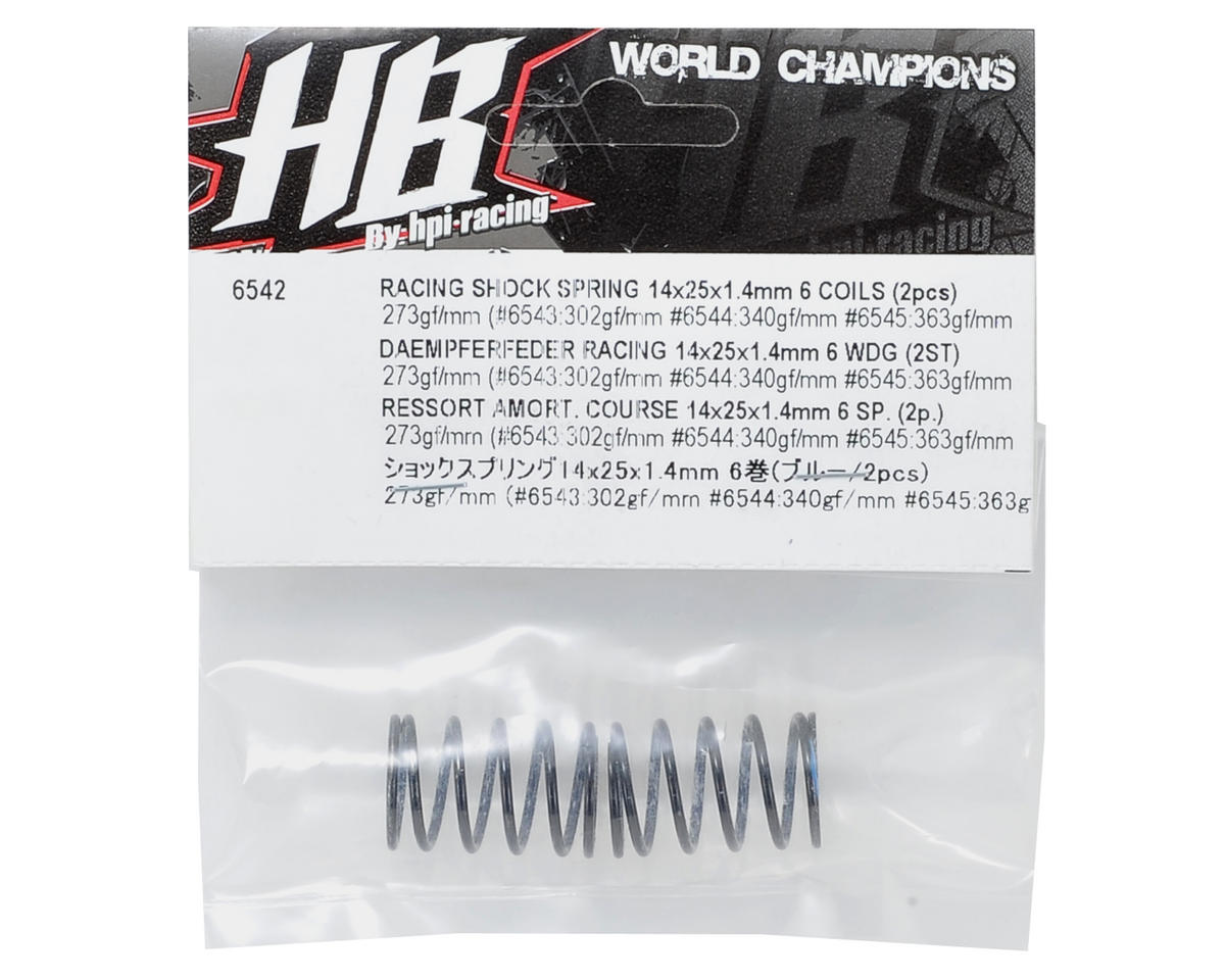 HPI Racing 14x25x1.4mm Shock Spring (Blue - 6 Coils) (2)