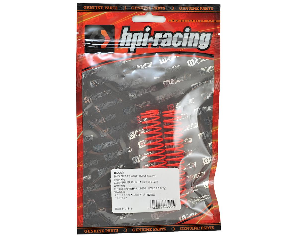 Wheely King Shock Spring (2) (18 Coils - Red) by HPI