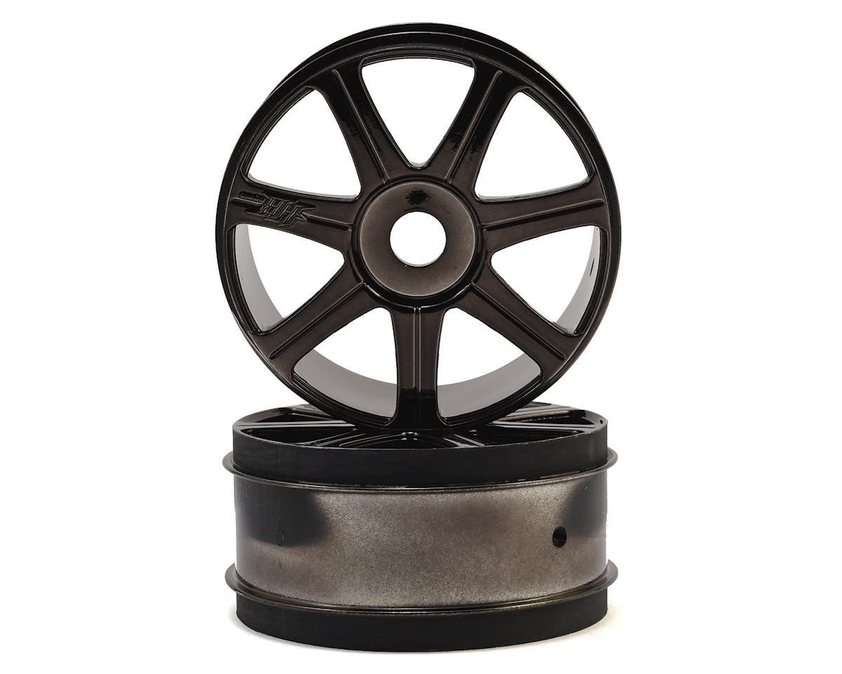 HPI 17mm Hex HB Edge 1/8 Buggy Wheel (Black Chrome) (2)
