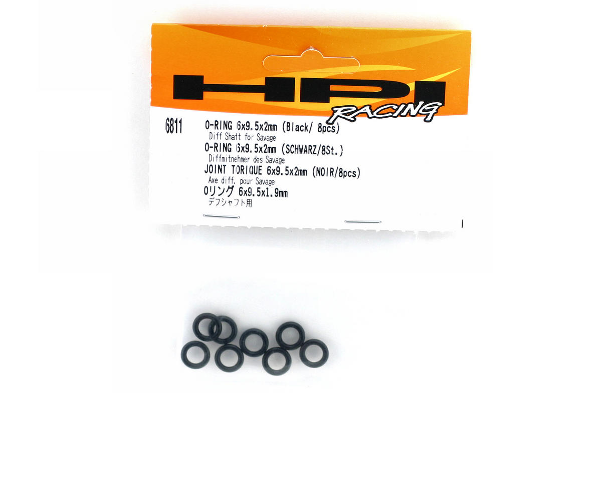HPI Racing O-Ring 6x9.5x2mm Black (8)