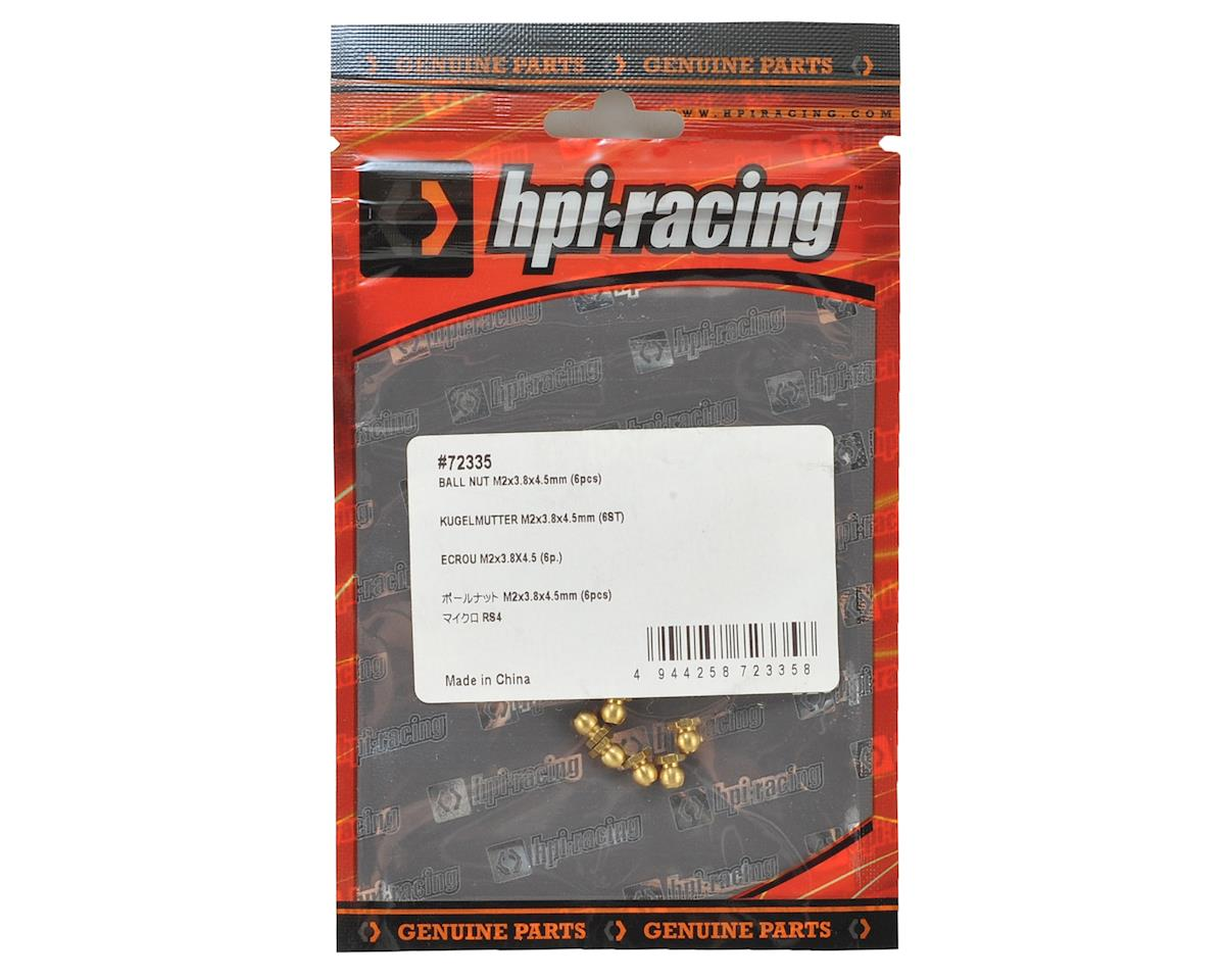 HPI 2x3.8x4.5mm Ball Nut (6)