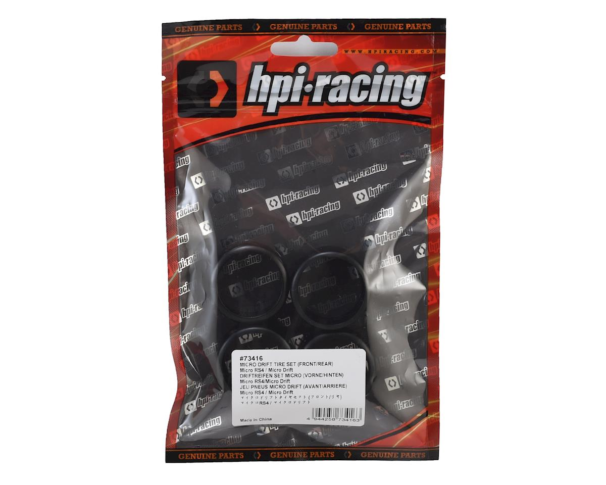 HPI Micro RS4 Drift Tire Set (4)
