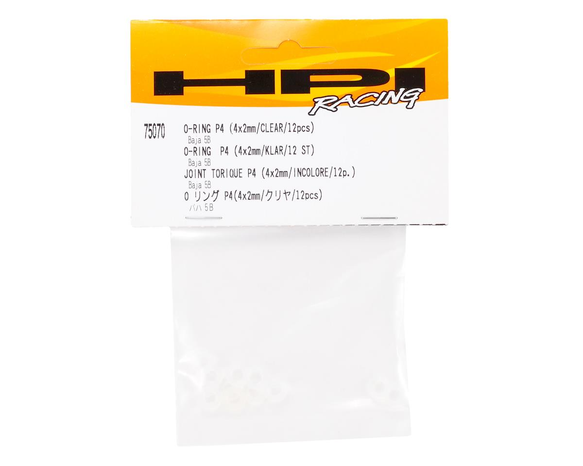 HPI 4x2mm P4 O-Ring (Clear) (12)