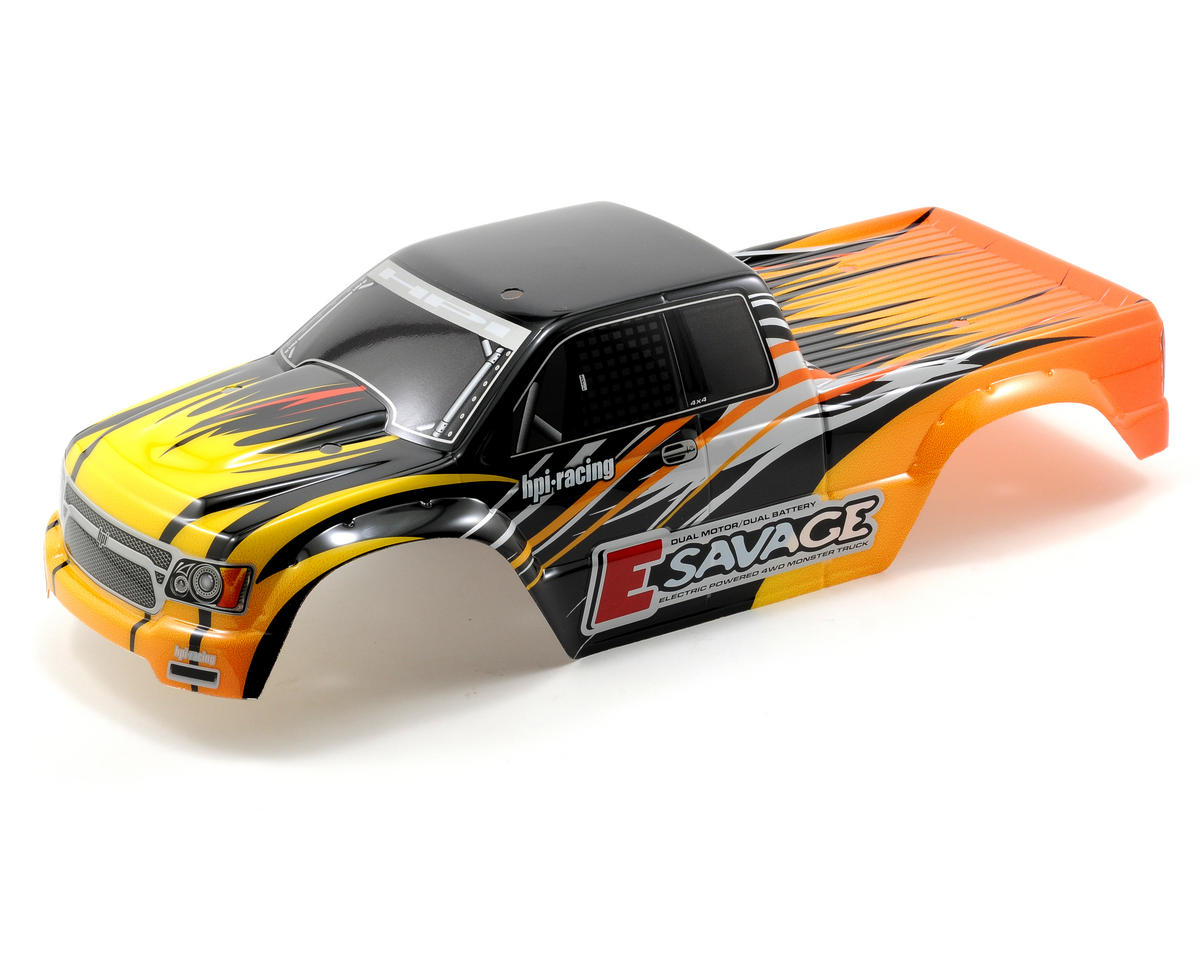 HPI Racing E-Savage GT-1 Pre-Painted Body (Yellow/Black/Silver)