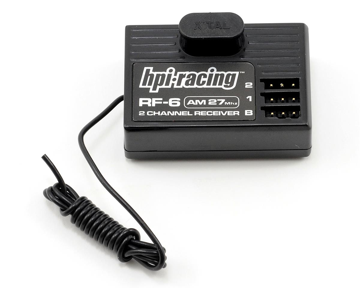 HPI RF-6 Receiver w/out Crystal (AM 27MHz/2 Channel)