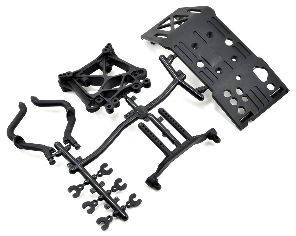 HPI Savage Flux Skid Plate, Body Mount & Shock Tower Set