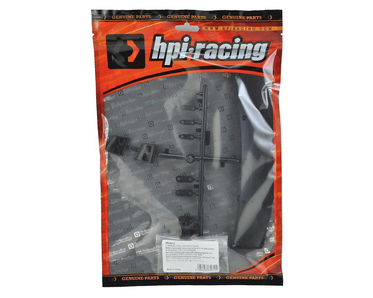 """HPI """"Type C"""" 1/10 GT Wing Set (Black)"""
