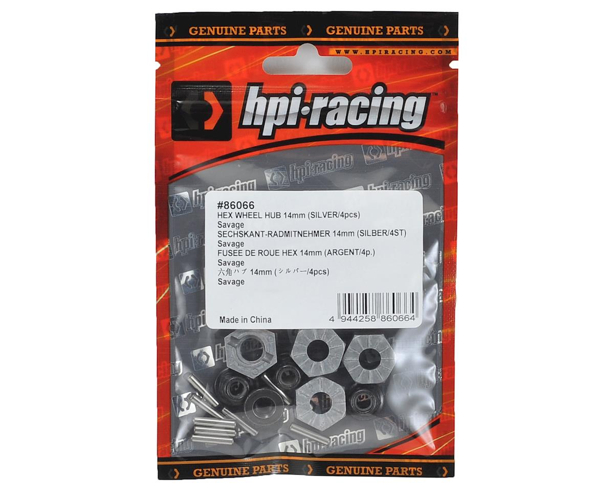 HPI Hex Wheel Hub 14mm (Silver) (4)