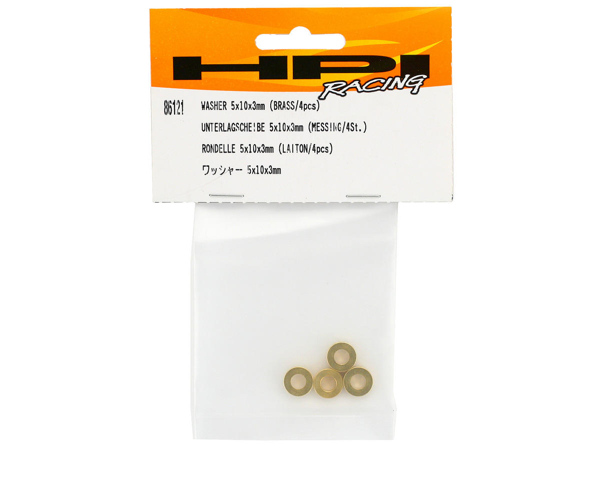 HPI Racing Washer, 5x10x3mm, Brass (4) (Savage/Savage X)