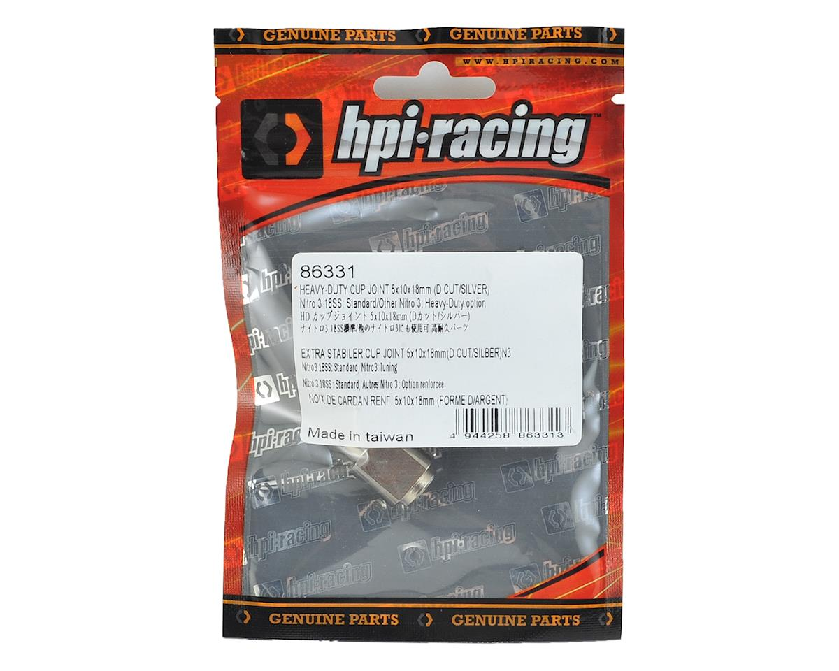 """HPI 5x10x18mm Heavy-Duty """"D Cut"""" Cup Joint (Silver)"""