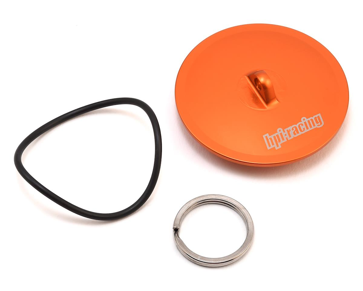HPI Aluminum Air Filter Maintenance Cap (Orange)