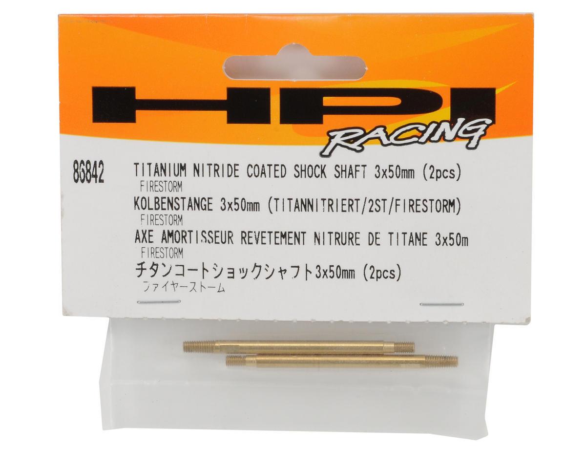 HPI Racing 3x50mm Titanium Nitride Coated Front Shock Shaft (2)
