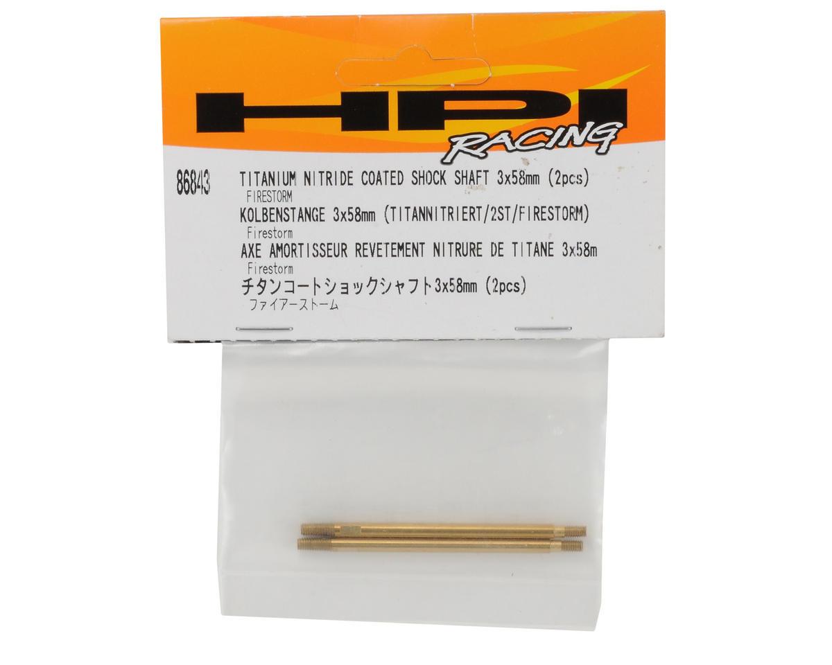 HPI Racing 3x58mm Titanium Nitride Coated Rear Shock Shaft (2)
