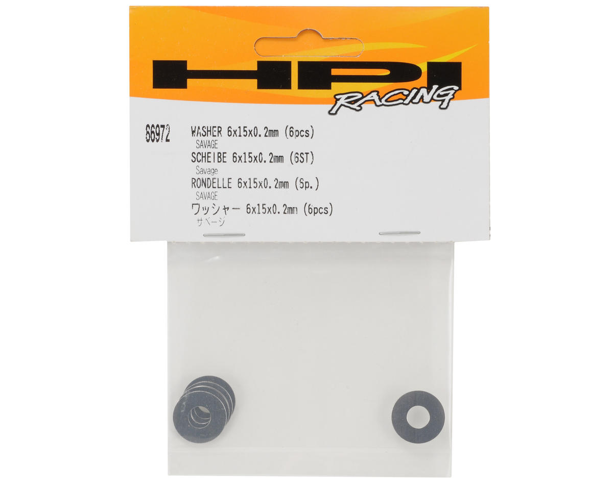 HPI Racing 6x15x0.2mm Washer Set (6)