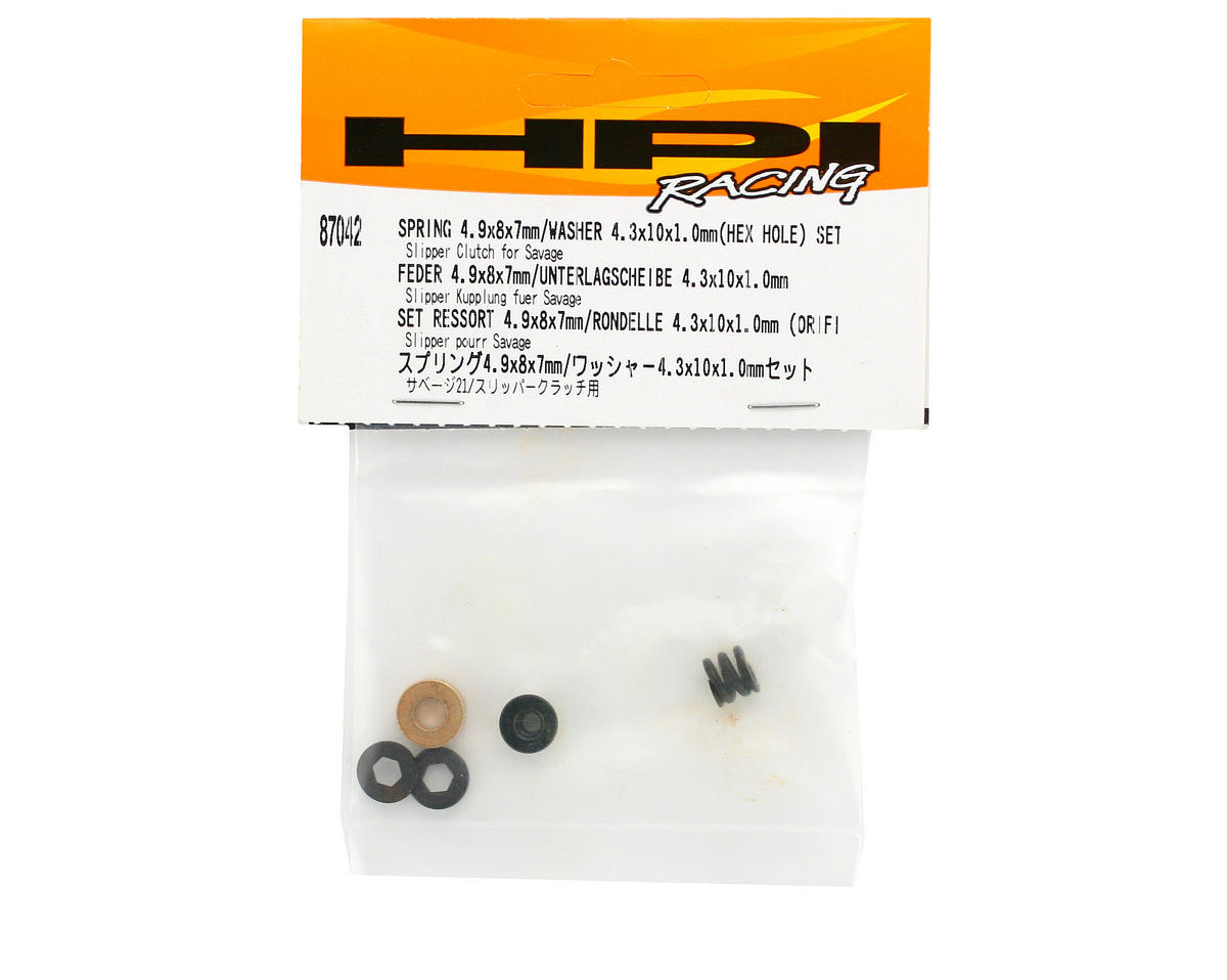 HPI Racing 4.9x8x7mm Spring & 4.3x10x1.0mm Hex Washer Set (Savage/Savage X)