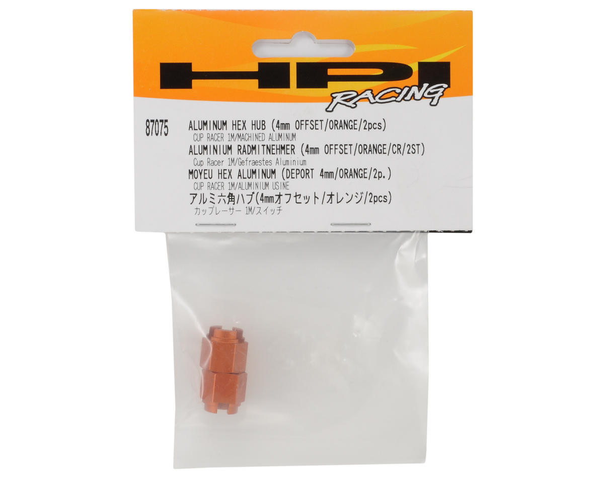 HPI Racing 4mm Offset Aluminum Hex Hub (Orange) (2)