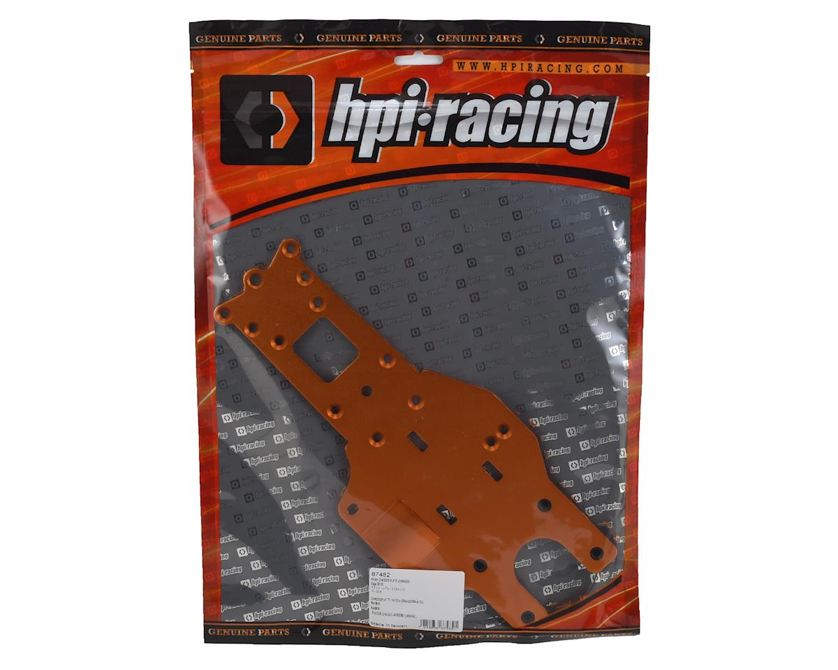 HPI REAR CHASSIS PLATE (ORANGE)
