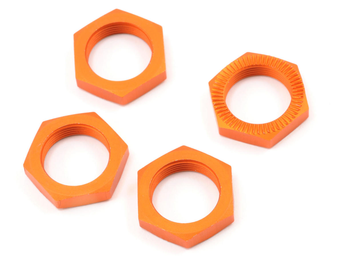 HPI Racing 24mm Serrated Wheel Nut (Orange) (4)