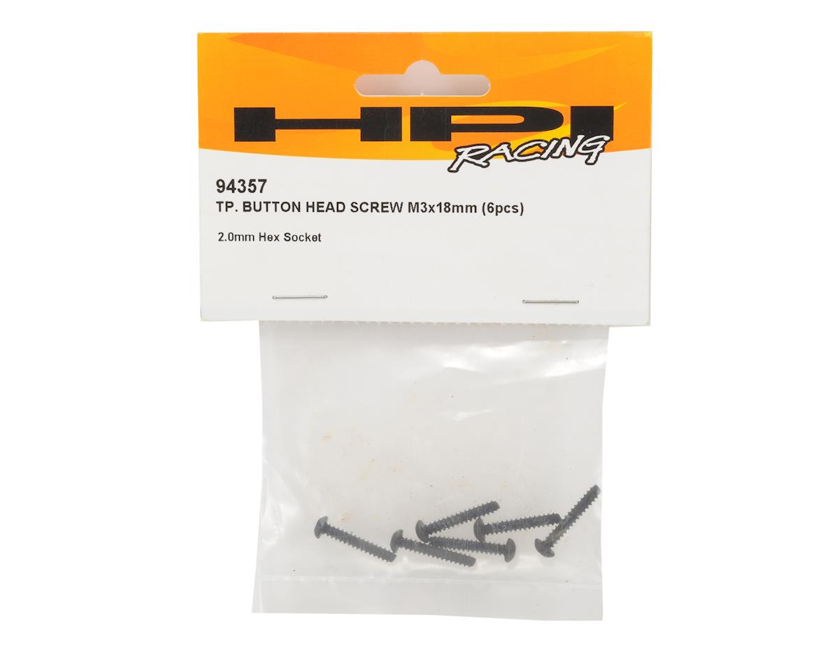 HPI 3x18mm Self Tapping Button Head Screw (6)