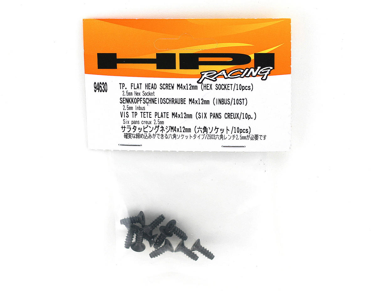 HPI Racing Tp. Flat Head Screw M4x12mm (10)