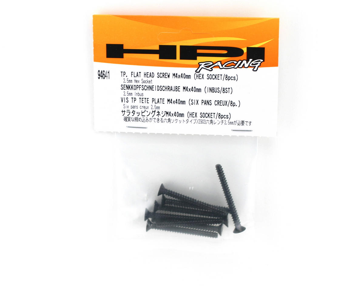 HPI Racing Tp.Flat Head Screw M4x40mm (8)
