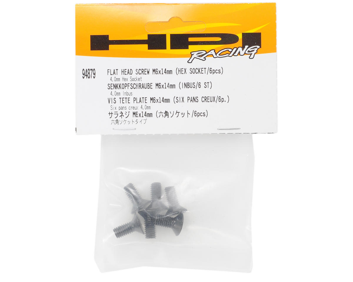 HPI Racing 6x14mm Flat Head Hex Screw (6)