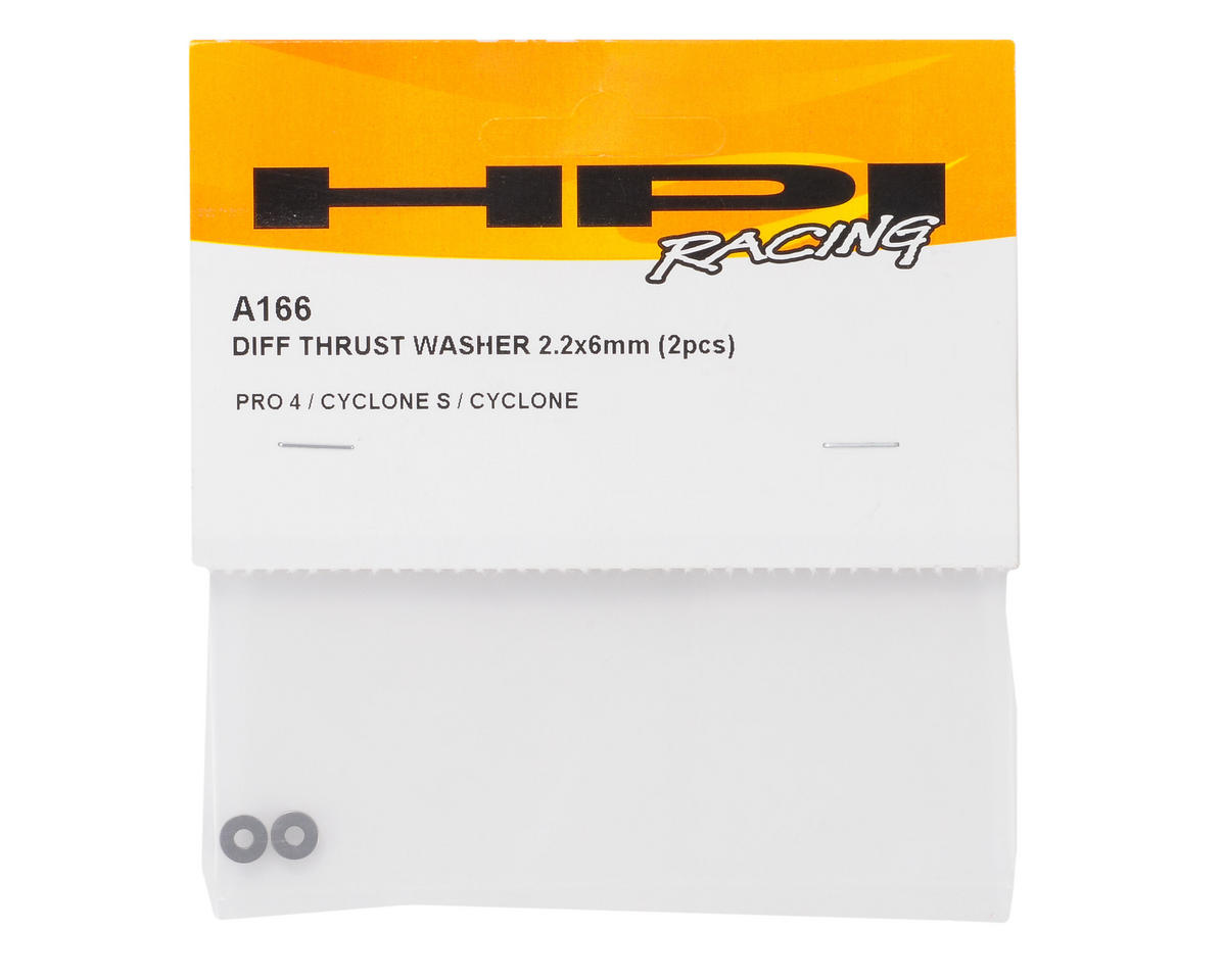 HPI Racing 2.2x6mm Differential Thrust Washers (2)