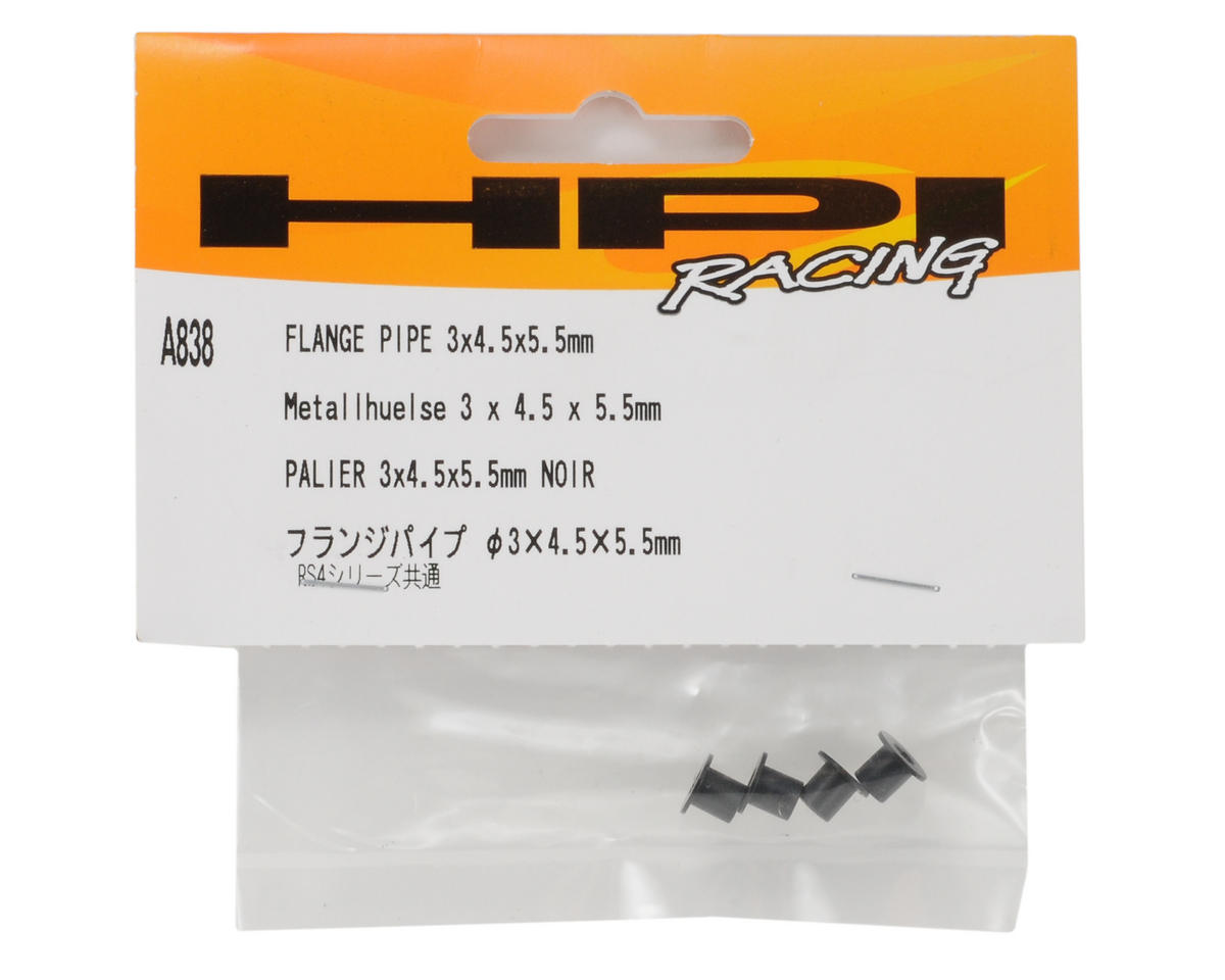 3x4.5x5.5mm Flange Pipe (4) by HPI Racing