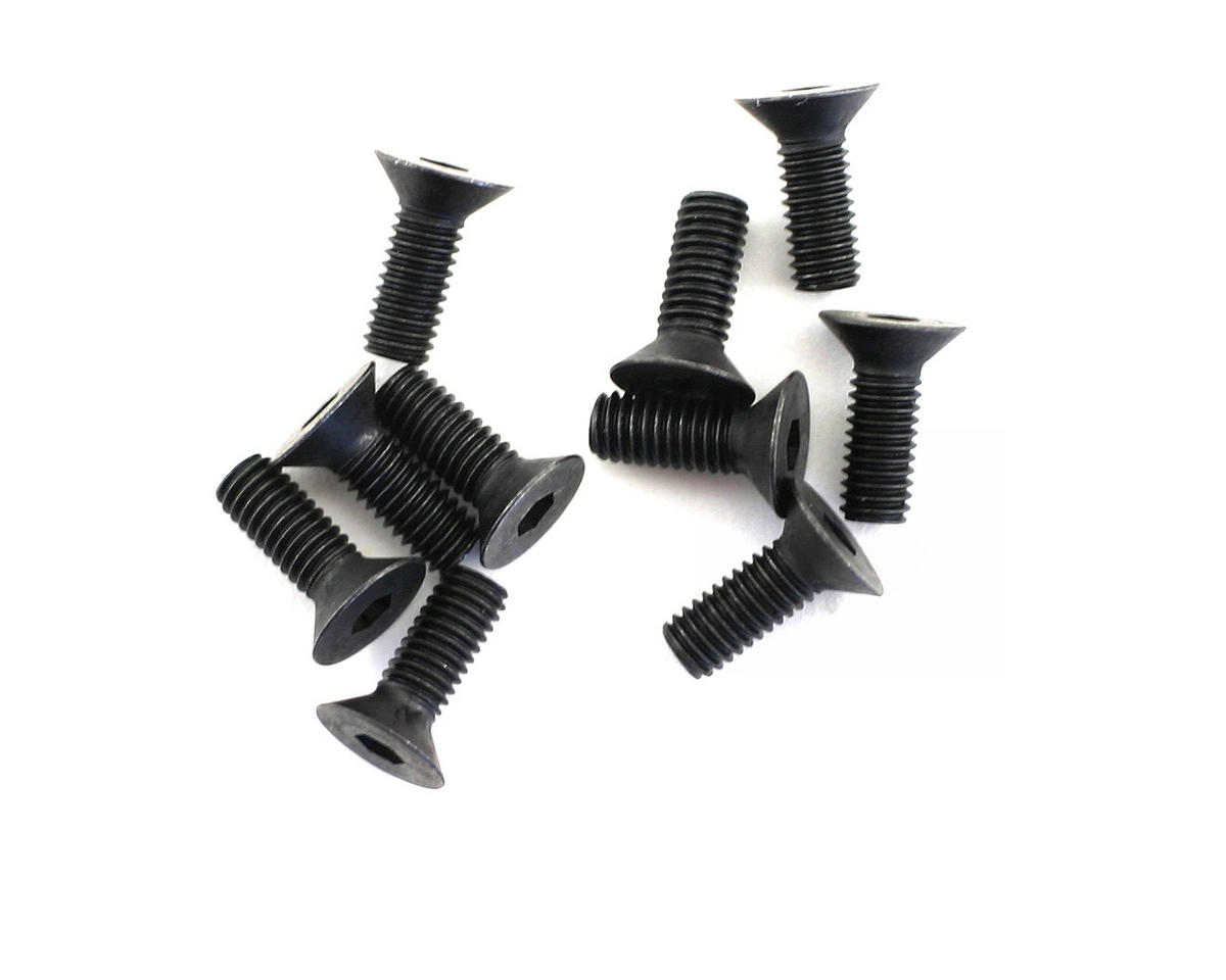 HPI 3x8mm Flat Head Hex Screw (10) (HB Racing TCXX)
