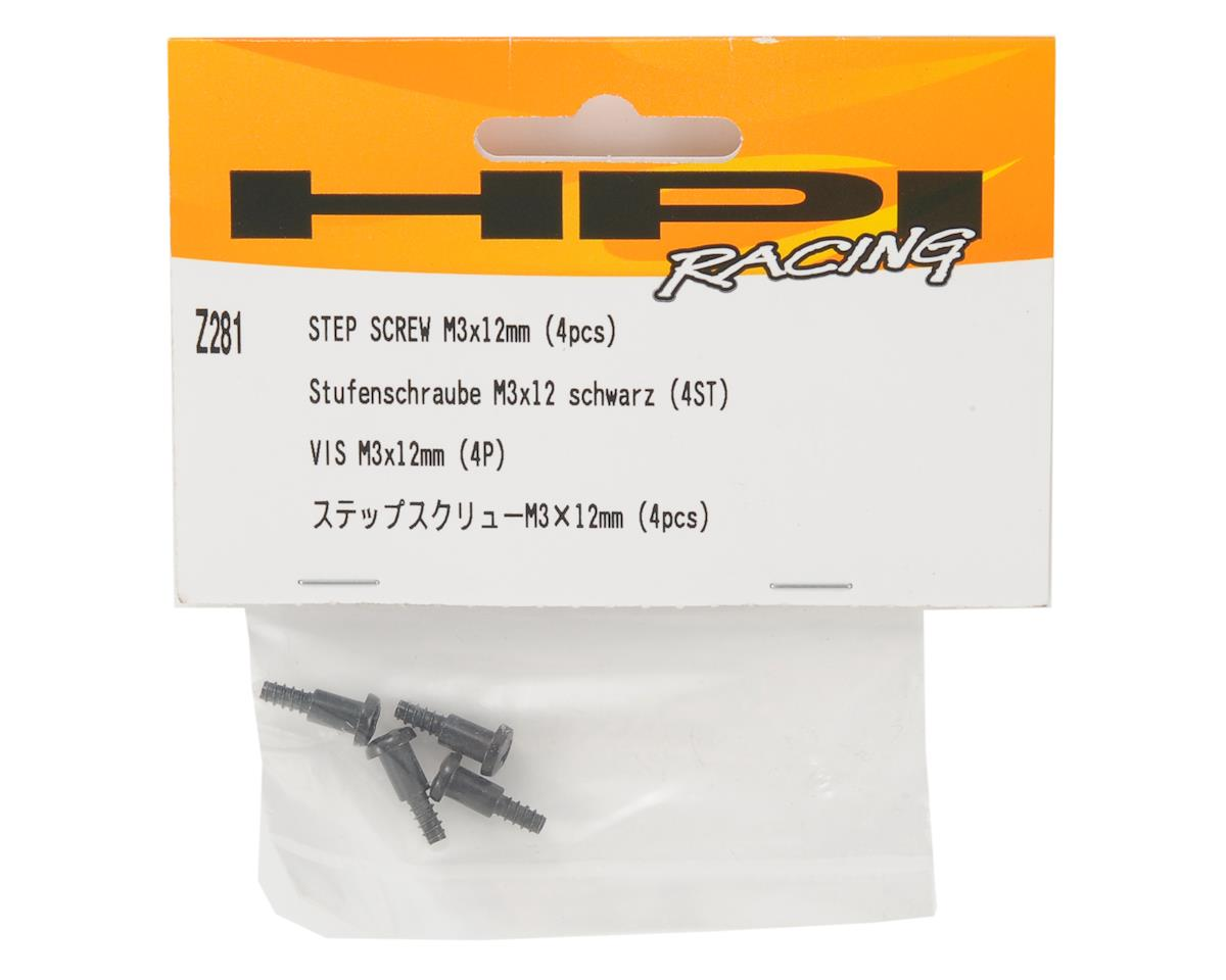 3x12mm Step Screw Set (4) by HPI