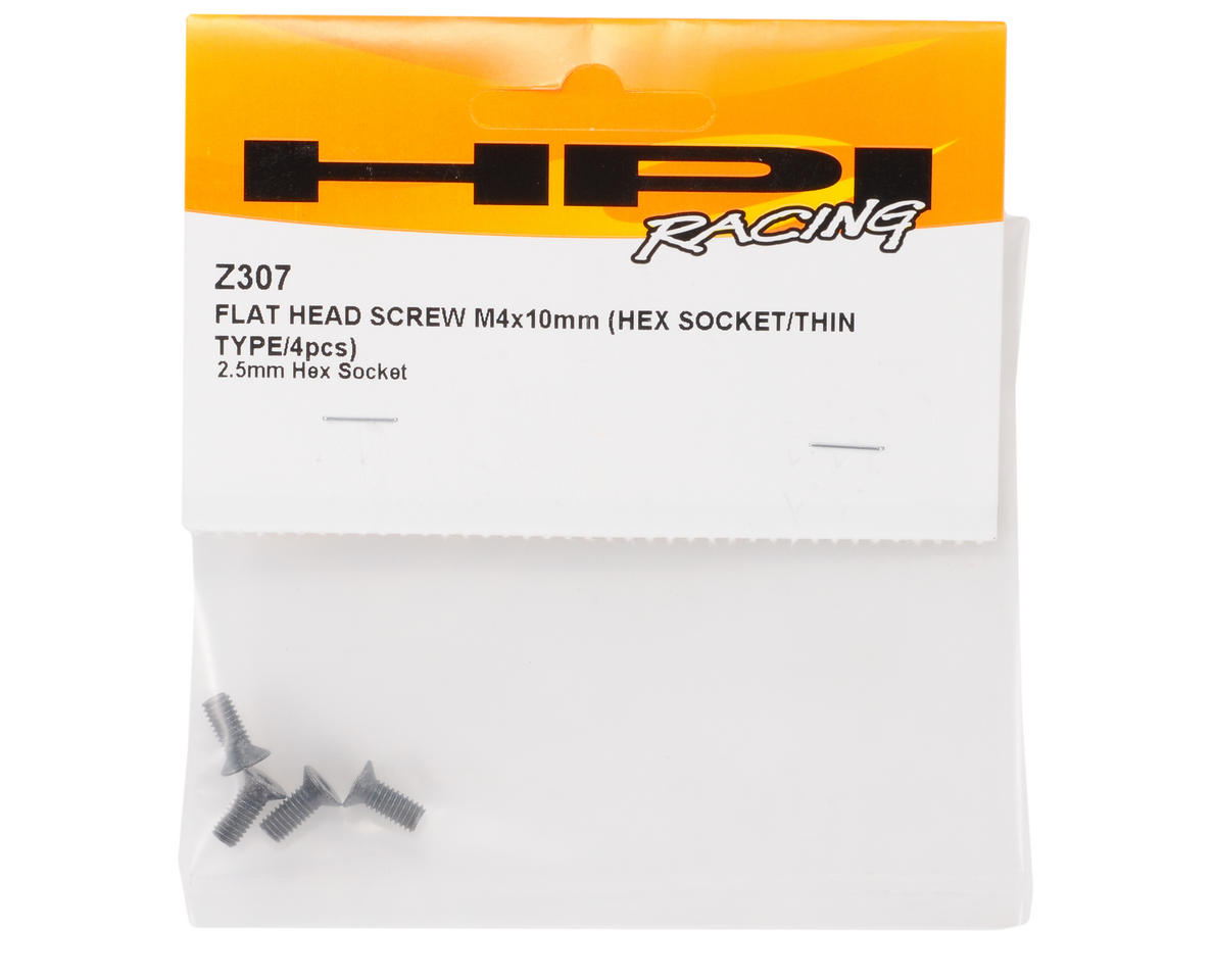 HPI Racing 4x10mm Thin Flat Head Screw (4)