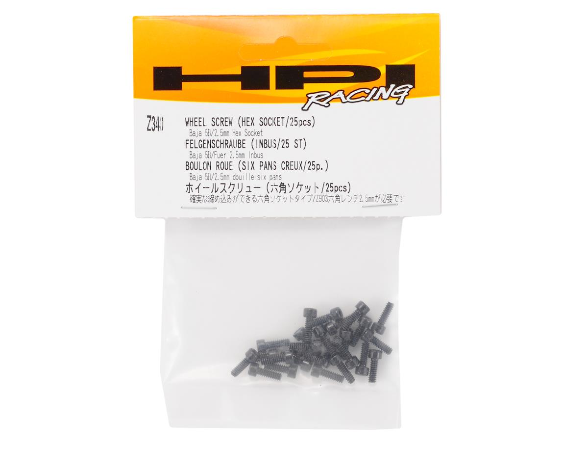 HPI 2.5mm Baja Cap Head Wheel Hex Screw (25)