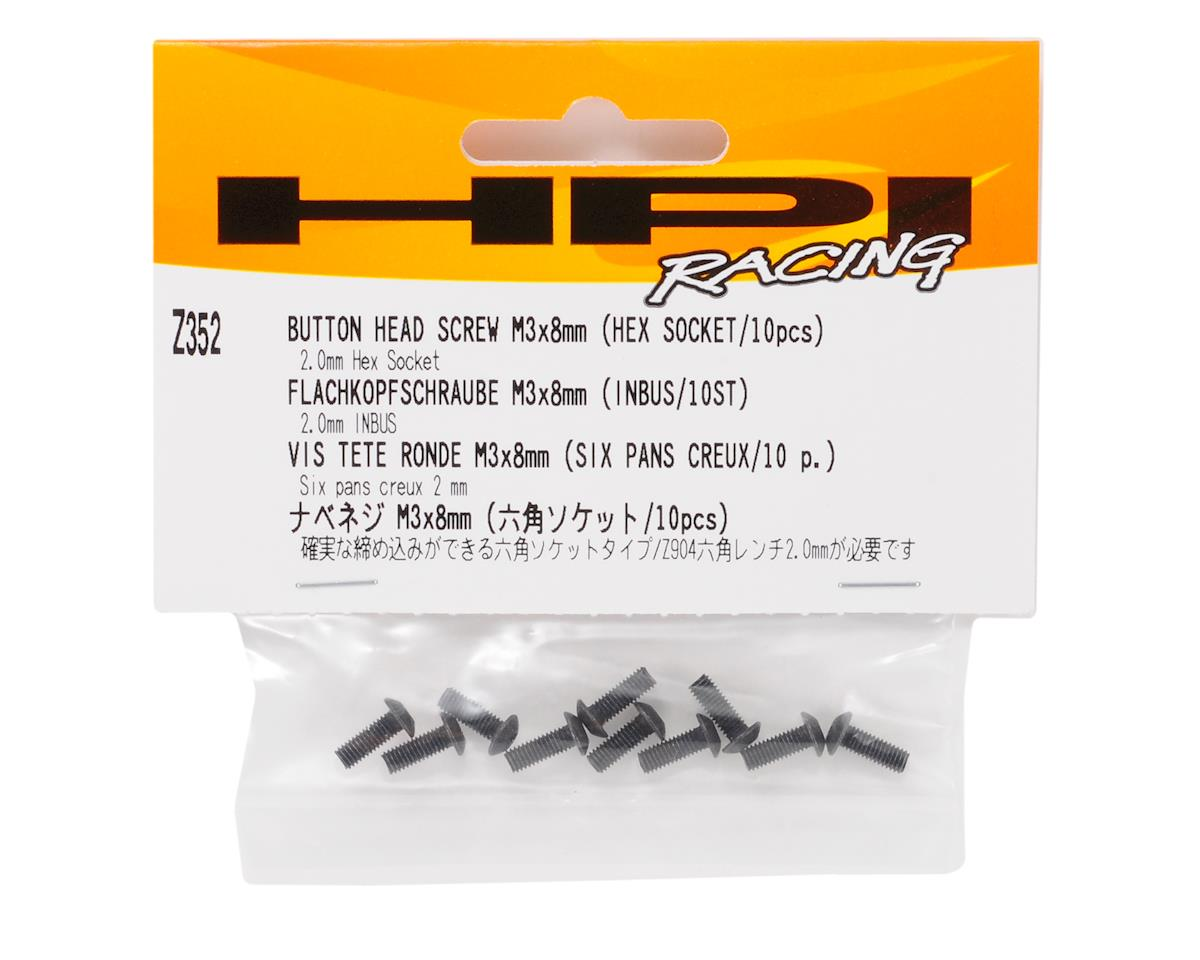 HPI Racing 3x8mm Button Head Hex Screw (10)