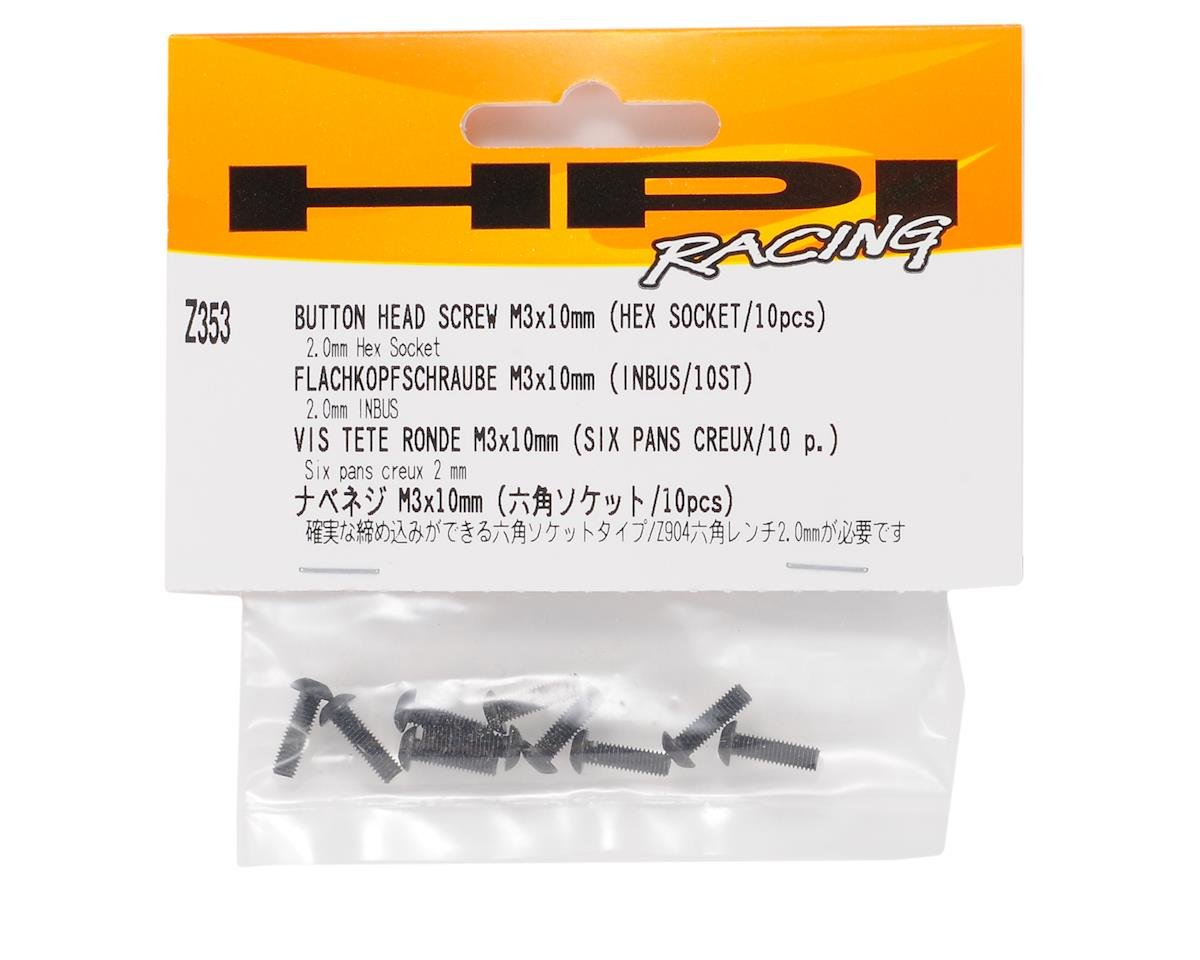 HPI Racing 3x10mm Button Head Hex Screw (10)