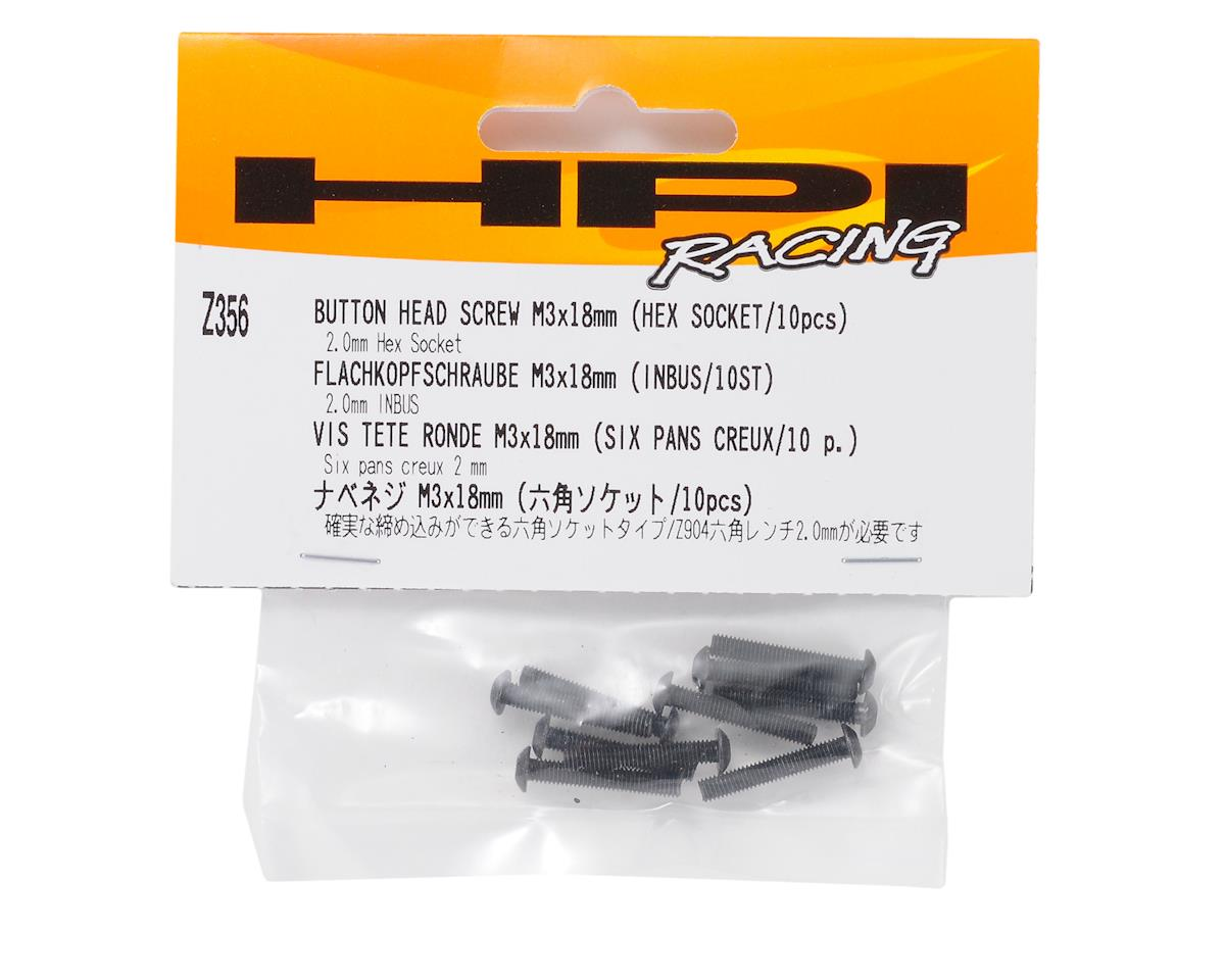 HPI Racing 3x18mm Button Head Screw (10)