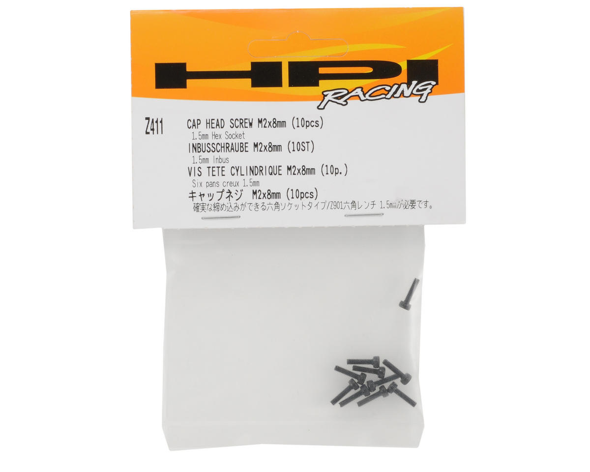 HPI 2x8mm Cap Head Hex Screw (10)